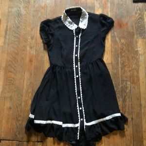 Black Goth Hot Topic Dress Size Small